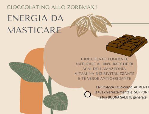 Cioccolato del Benessere allo Zorbmax